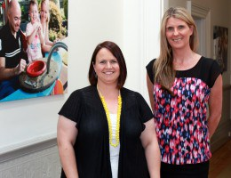L-R Kara Briggs and Sharon Stynes