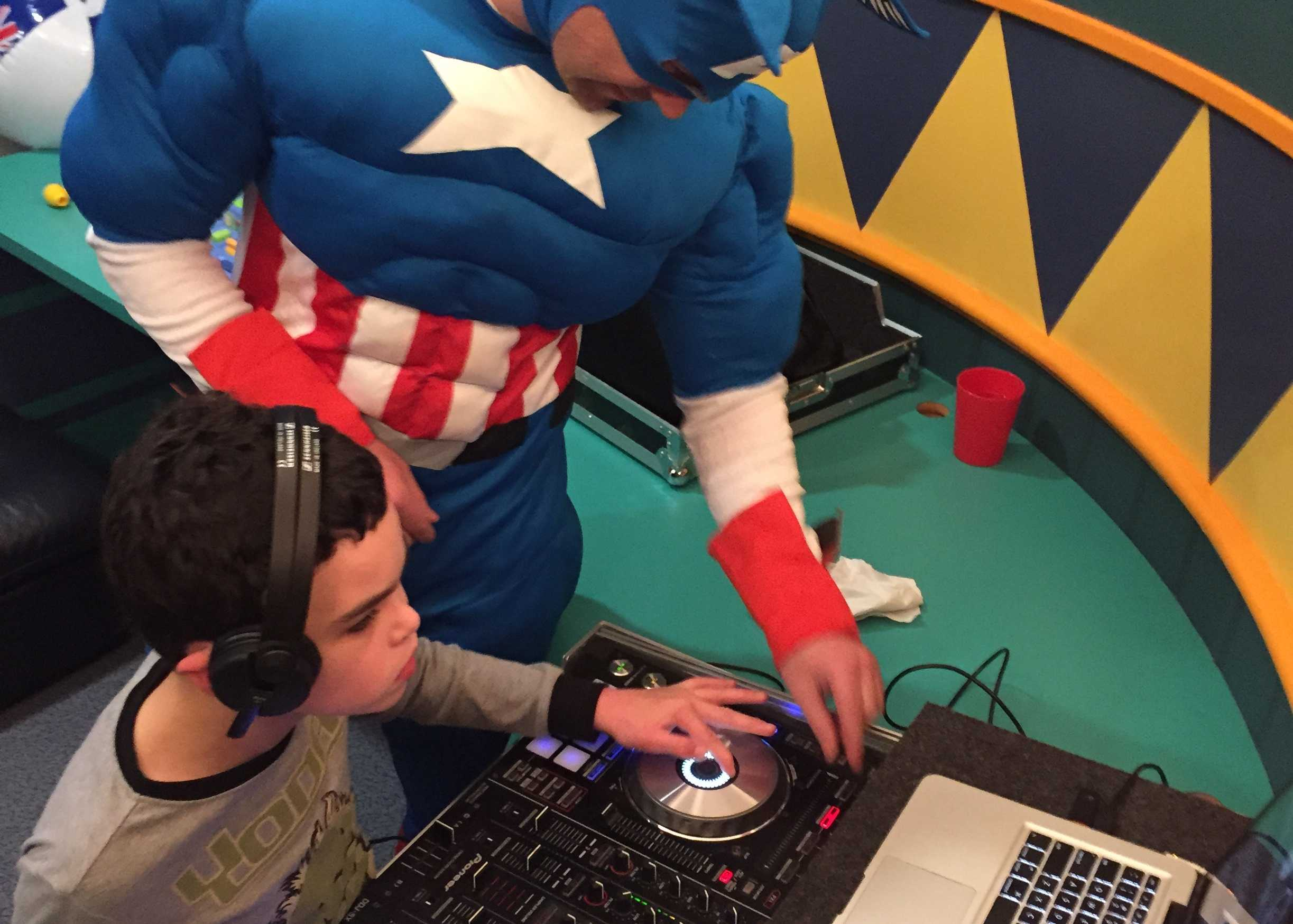 On the decks with DJ Captain America