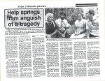 Newspaper article with founders 1985