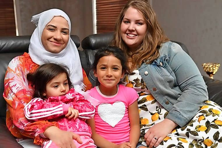 01-02-17 Very Special Kids needs new volunteers. Pic of (L-R) Yasmin Akel (mum) with Jana (3) who has Leigh's Disease, Malak (5), and volunteer Emily Webster. Photo by Damjan Janevski.