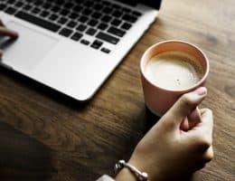 laptop-coffee-website-review-copywriting-perth